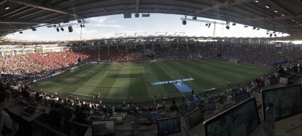 Here is the view waiting us tonight at Toulose prior Russia against Wales l Photo: uefa.com