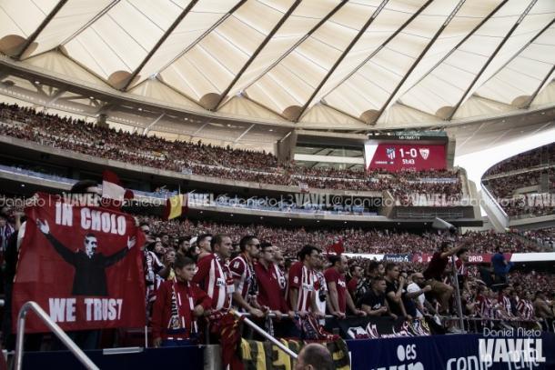 Wanda Metropolitano en un partido del Atlético de Madrid. Foto: Dani Nieto, VAVEL.com