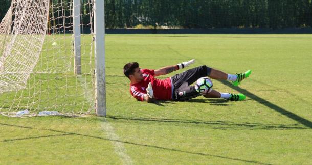 Valdés en un entrenamiento en Marbella con el Boro. Foto: Gazette Live