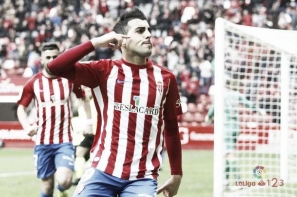 Castro celebra un gol.|| Imagen: La Liga