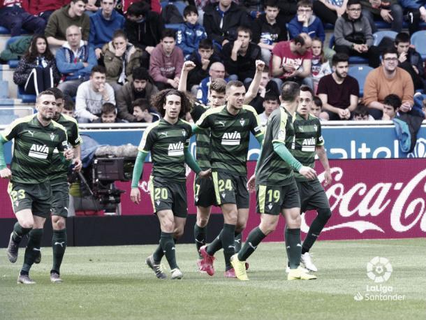 La SD Eibar celebra un gol | Foto: La Liga