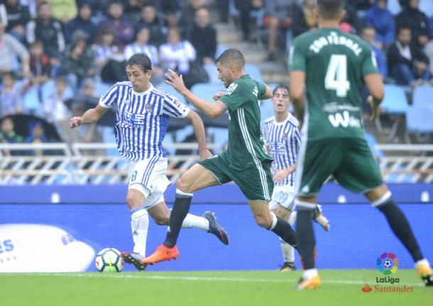 Oyarzabal fue uno de los goleadores frente al Betis     Fotografía: La Liga