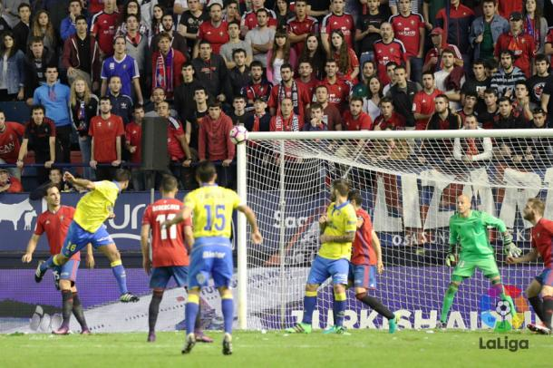 Los amarillos empataron en el tiempo de descuento ante Osasuna. Un gol del capitán David García en el minuto 91 estableció un empate en el marcador, que no obstante, no hizo justicia a lo presenciado en El Sadar el pasado 1 de octubre