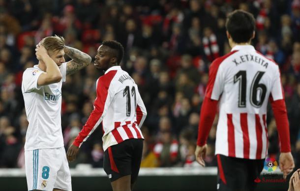 Kroos lamenta una ocasión fallada en el último partido entre ambos | Foto: La Liga