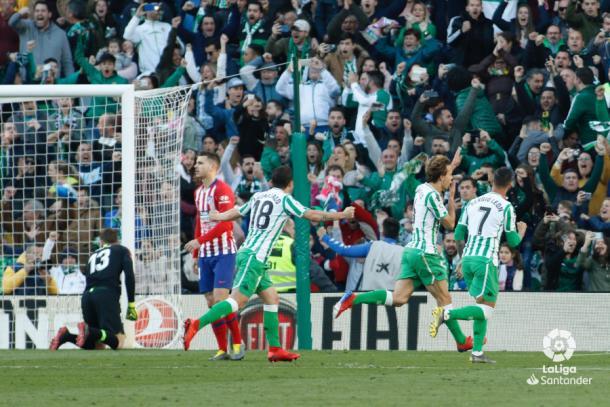 Celebración del gol contra el Atleti | Foto: La Liga Santander