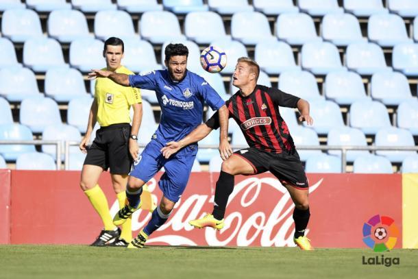 Jorge Molina ante el Reus. Fuente: Laliga