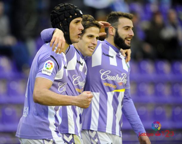 Celebración del gol de Hervías contra la Cultural | LaLiga 1|2|3