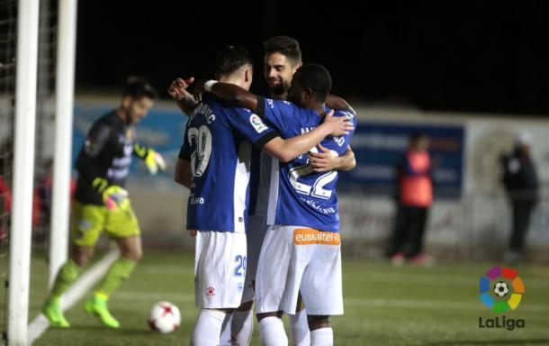 Celebración de gol. Foto: laliga.es