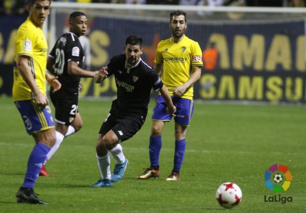 Nolito fue uno de los mayores agitadores del juego ofensivo del Sevilla   Foto: LaLiga