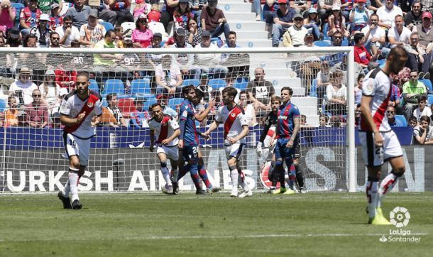 Álvaro García tras su gol   Fotografía: La Liga