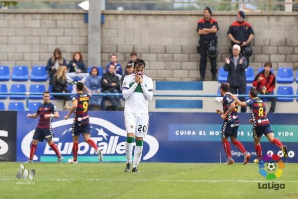 El Elche sufrió una goleada ante el Llagostera | Foto: LFP.