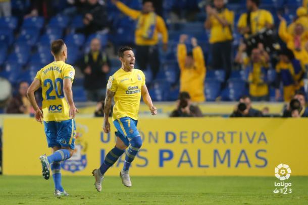 Rubén Castro celebrando su último gol ante el Zaragoza. | Foto: LaLiga