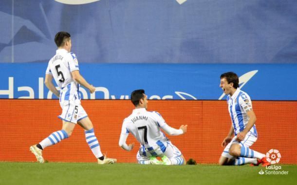 Celebración del gol de Juanmi | Fotografçia: LaLiga Santander