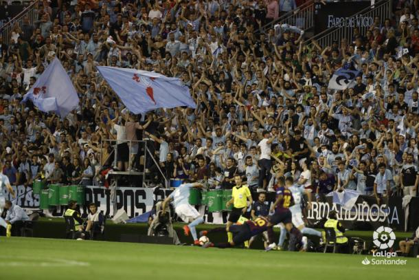 Aficionados del Cetla animando   Fotografía: La Liga