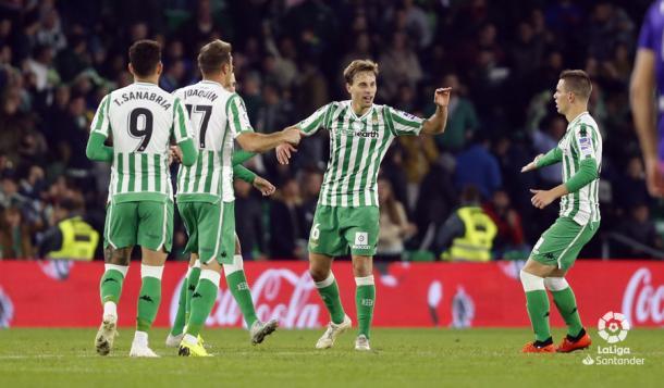 Celebración del gol de Canales ante el Celta de Vigo | Foto: LaLiga Santander