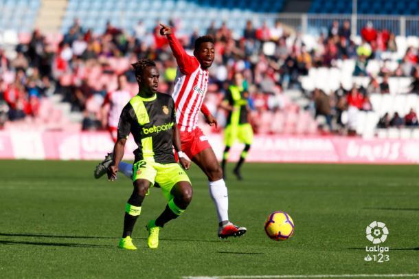 Eteki fue el timón del Almería junto a Juan Carlos y Álvaro Giménez | Fuente: La Liga