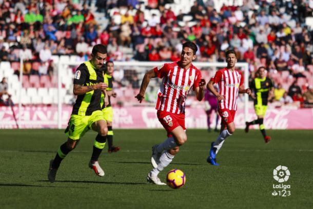 Juan Ibiza volvió a la titularidad con una destacada actuación | Fuente: La Liga