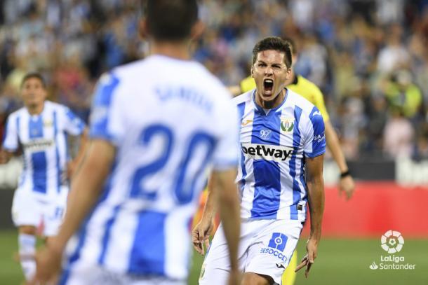 Carrillo celebrando su gol frente al Rayo Vallecano | Foto: LaLiga Santander