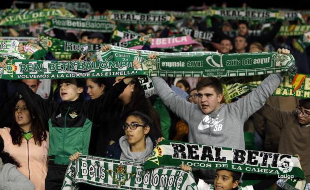 Aficionados del Betis animando a su equipo | Fotografía: La Liga
