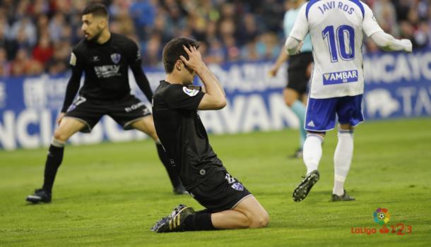 Frustración de Melero ante el Zaragoza | Foto: LaLiga