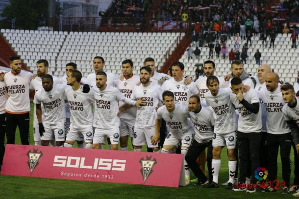 La plantilla del Albacete Balompié manda un mensaje de ánimo a Pelayo | Foto: laliga.es