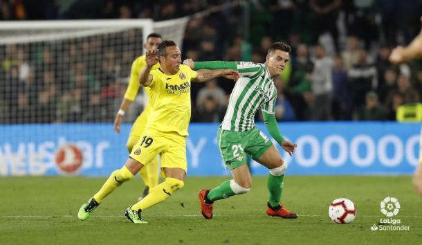 Lo Celso fue el único autor de los goles del Betis | Foto: La Liga Santander