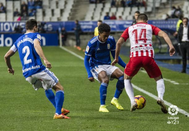 Luis Rioja realizó un gran partido | Fuente: UD Almería