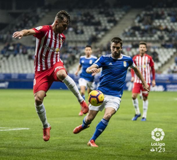 Álvaro Giménez mostrando su calidad | Fuente: La Liga