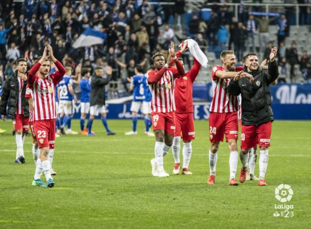 El equipo celebrando la victoria | Fuente: La Liga