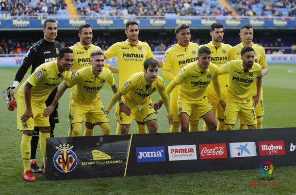 Once inicial del Villarreal frente al Alavés. | Foto: LaLiga