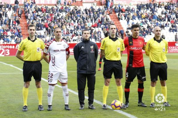 El colegiado en su último partido (Albacete - Mallorca).   Foto: LaLiga