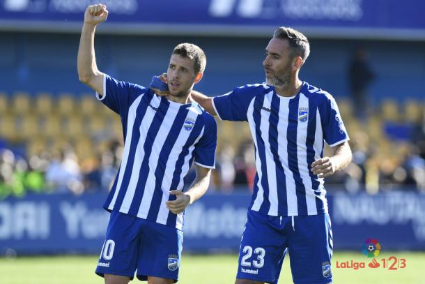 El Lorca sumó su primer punto como visitante en Alcorcón. | Foto: laliga.es