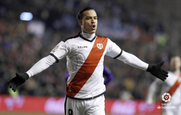 Raúl de Tomás celebrando uno de sus goles ante el Celta de Vigo   Foto: Laliga Santander