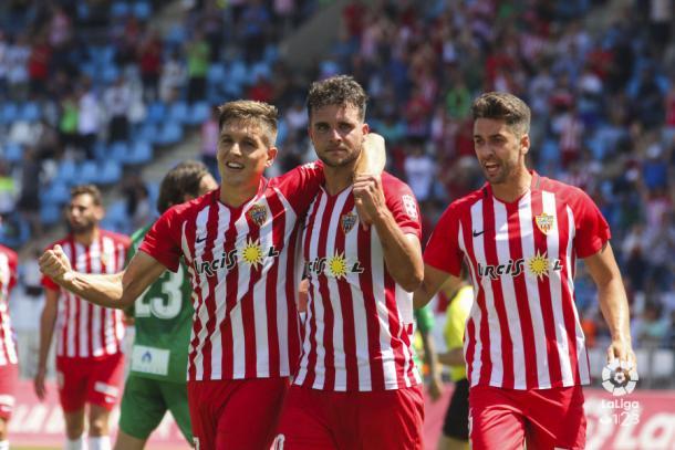 Álvaro Giménez tras anotar frente al Elche | Fuente: La Liga