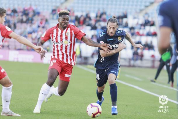 Eteki en el Almería-Gimnàstic | Fuente: La Liga