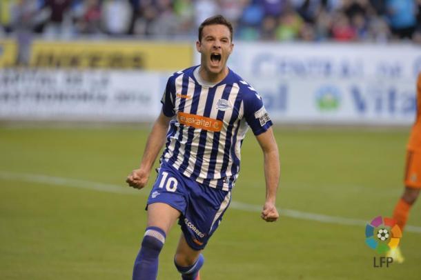 Viguera ha sido el último gran goleador albiazul  |  Fotografía: LFP
