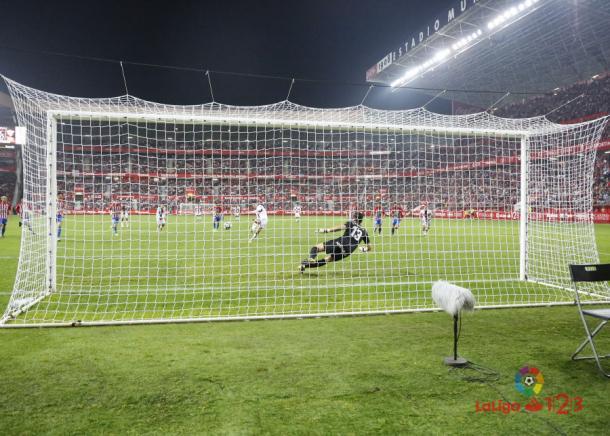 Lanzamiento de penalti de Melero | Imagen: LaLiga