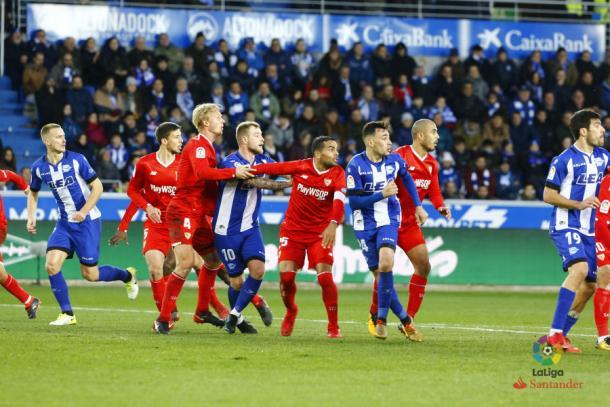 El último partido del Deportivo Alavés en LaLiga. Fotografía: LaLiga