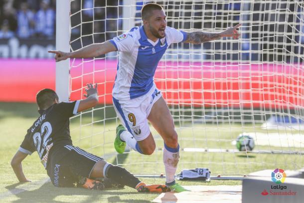 Guerrero celebrando su gol frente al Celta | Foto: LaLiga Santander