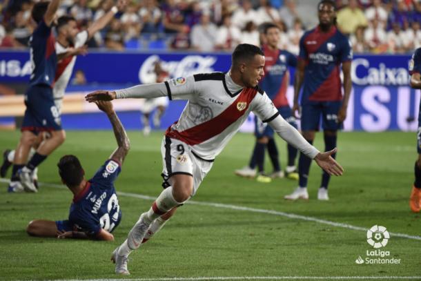 Raúl De Tomás festeja su gol al Huesca I Foto: LaLiga