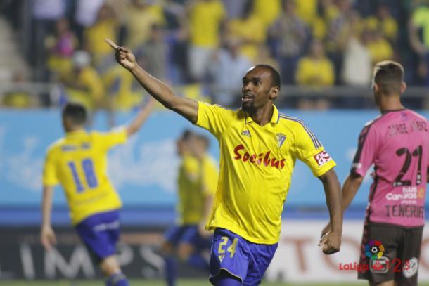 O camisa 23 marcou o único gol da partida, um golaço (Foto: Divulgação/La Liga)