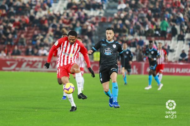 Owona en el Almería-Lugo | Fuente: La Liga