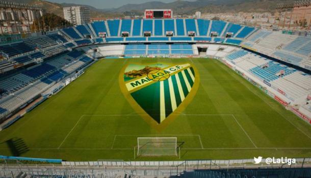 Estadio La Rosaleda en Málaga. | Foto: LaLiga