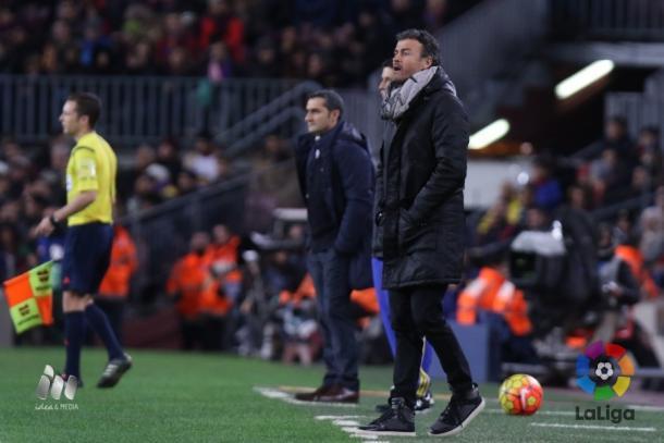 Los planes de Valverde para frenar al Barça de Luis Enrique duraron tres minutos | Foto: LaLiga