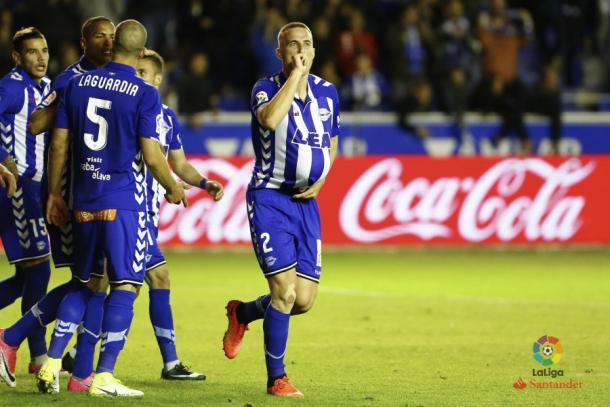 Ely marcó uno de los goles de la victoria albiazul de la pasada temporada  |  Fotografía: LFP