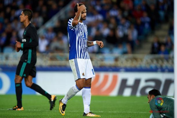 Willian José se lamenta de una ocasión. Foto: LFP