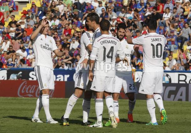 El Real Madrid celebró su última victoria en el Ciutat de València   Foto: LFP.