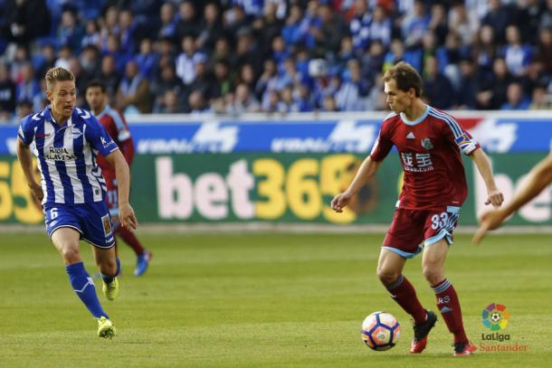Jon Guridi, en Mendizorrotza | Imagen: La Liga Santander