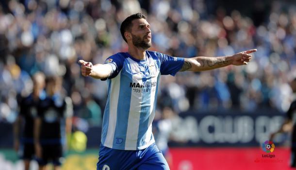 Borja Bastón tras su gol ante el Deportivo | Foto: LaLiga