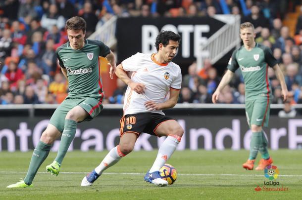 Eraso disputó su último encuentro con la camiseta del Athletic ante el Valencia | Foto: La Liga